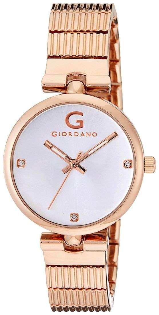 Giordano Analog Silver Dial Women's Watch A2058 33 by Brandz Storm Lz