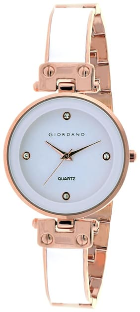 Giordano Analogue White Dial Women Watch