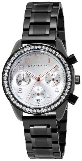 Giordano Chronograph Silver Dial Women Watch