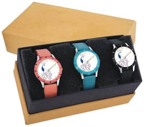 Glamexy 3 new disinge model for combo pack of 3 girl watch