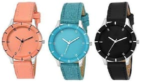Glamexy new collection 3 letest model combo girl watch