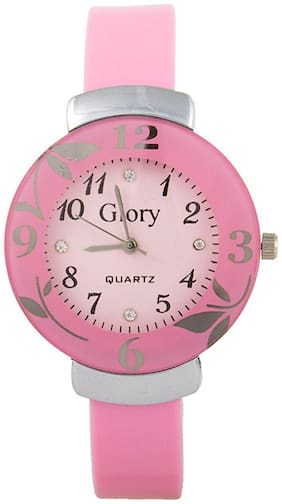Glamexy  pink and pink staylish girl watch