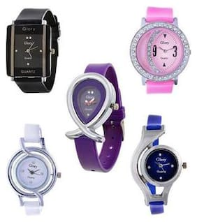Glory Multi color Analog Watches - Combo of 5