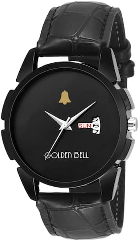 Golden Bell Charcoal Day and Date Calender Function Chronograph Display Black Dial Men's/Boys Watch - GB-1124