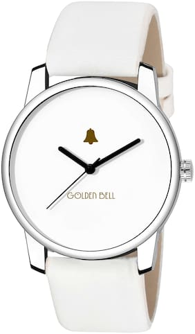 Golden Bell Graphic Analogue Display White Dial White Strap Boys and Men's Watch - GB-1205