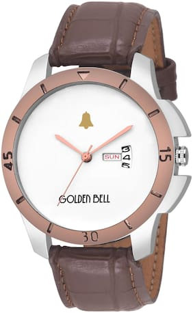 Golden Bell Accord Day and Date Calender Function Chronograph Display White Dial Men's/Boys Watch - GB-1134