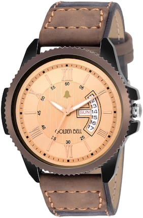 Golden Bell O'neil Day and Date Calender Function Chronograph Display Beige Dial Men's/Boys Watch - GB-1130
