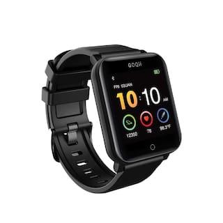 GOQii Vital Unisex 33 mm Black Smart Watch