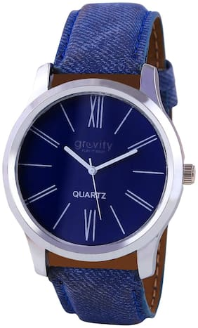 Gravity Men & Women Denim Blue Casual Analog Watch-104