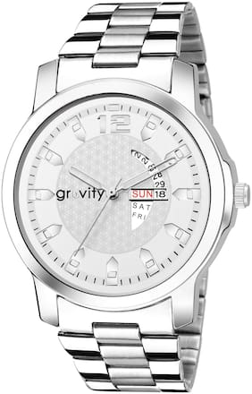 Gravity Stainless Steel Day N Date Analog Watch