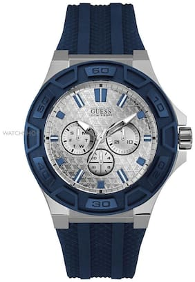 Guess Analog White Dial Men's Watch - W0674G4