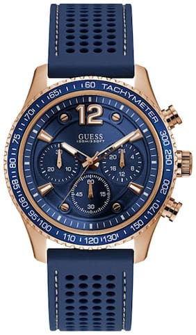 Guess Blue Dial Chronograph Men's Watch-W0971G3
