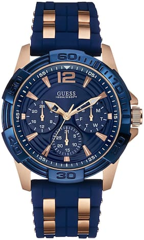 Guess Chronograph Blue Dial Men's Watch - W0366G4