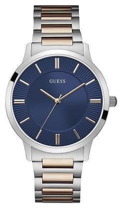 GUESS Escrow Golden-Silver - Blue Analog Men's Watch - W0990G4