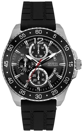Guess JET W0798G1 Multi-function Black Round MENS SPORT Collection