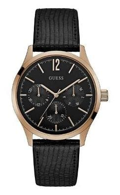 Guess Regent Black Dial Analog Men's Watch - W1041G3