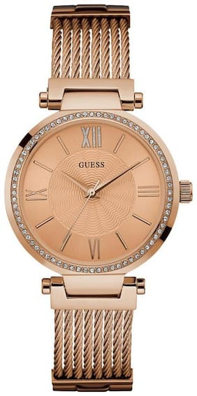Guess SOHO W0638L4 Analog Rose Gold Tone Rectangle LADIES DRESS Collection