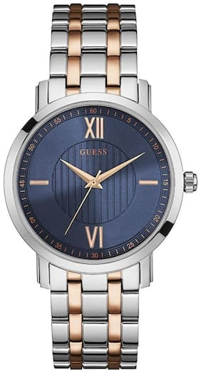 Guess VP W0716G2 Analog Silver Tone/Rose Gold Tone Round MENS DRESS Collection