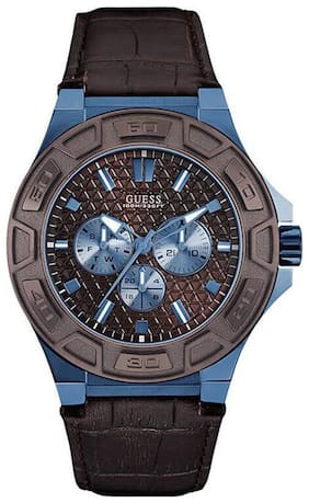 Guess FORCE W0674G5 Multi-function Brown Round MENS SPORT Collection