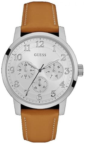 Guess White Dial BROOKLYN Men's Watch - W0974G1