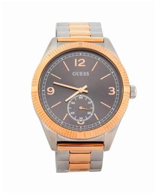 Guess YORK W0872G2 Multi-function Silver Tone/Rose Gold Tone Round MENS DRESS Collection