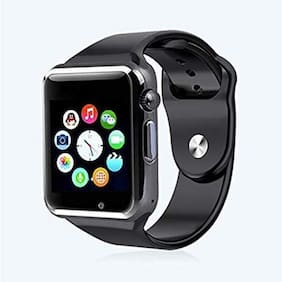 Hadwin A9S Bluetooth Smart Watch, Touchscreen Smart Wrist Watch Smartwatch Phone Fitness Tracker with SIM SD Card Camera Pedometer Compatible iOS iPhone Android for Men Women Boys Girls (Black)
