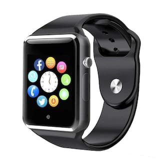 Hadwin A5C Bluetooth Smart Watch, Touchscreen Smart Wrist Watch Smartwatch Phone Fitness Tracker with SIM SD Card Camera Pedometer Compatible iOS iPhone Android for Men Women Boys Girls (Black)