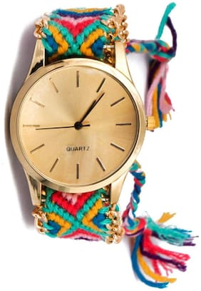 Hala Trendy Multicolor Bracelet Analog Watch - For Girls, Women