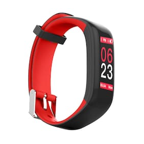 Hammer Fit Pro Smart Fitness Band with Fitness Tracker Activity Tracker with HD Color Touch Display (Red)