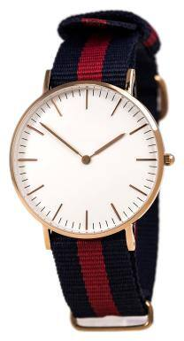 Heer Nx Classic White Dial Blue & Red Canvas Strap Mens;Women;Kids;Girls Watch