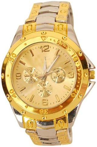 Heer Nx Golden And Silver Analog Watch - For Men, Boys