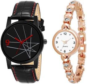Unisex Multi-Color Couple Watch