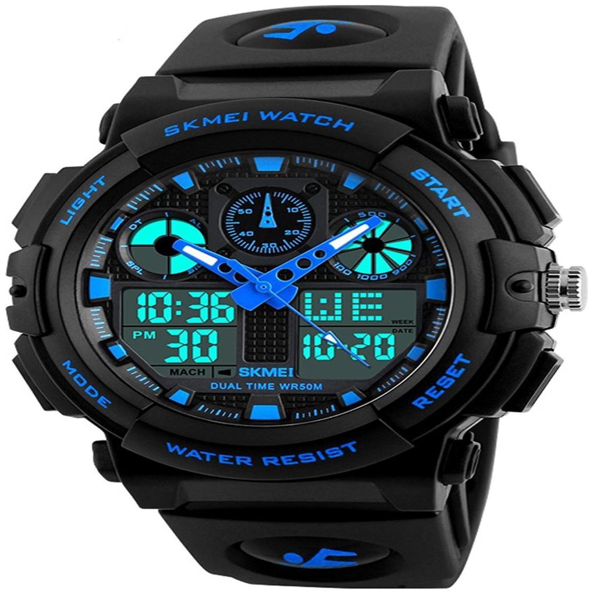 HK Retailkart New Skmei Brand LED Digital Military Watches Sports wrist watch blue by Bhavya Enterprise