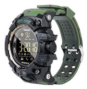 Hoteon EX16S Rugged Outdoor Sports Smart Watch with Bluetooth Activity Tracker Pedometer Steps Caloires DistanceStopwatch 50M Waterproof for Running Walking Hiking;8 month Long standby time