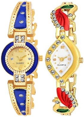 HRV Women Gold Analog Watch - ni405