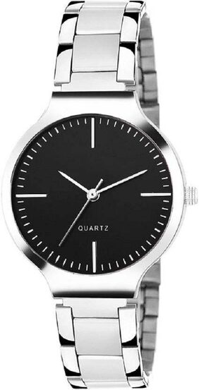 HRV Black dial stainless steel professional watch for women Watch - For Girls