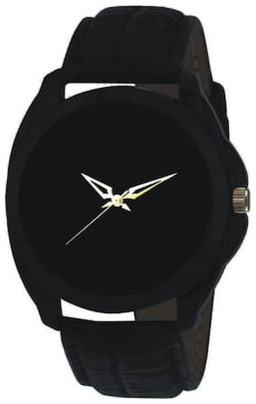 HRV Black Leather Authentic Brand G-176 Watch - For Men & Women