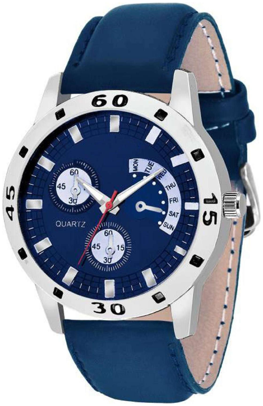 HRV Chronograph Pattern Blue Watch - For Men