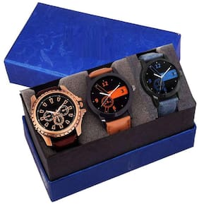 HRV Exclusive Combo set with a Best price 3 watches combo for Men's and boy's Watch - For Men