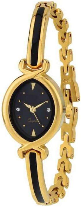 HRV Gold and Black kundan meena bracelet attractive 507 watch for women girls Watch - For Girls