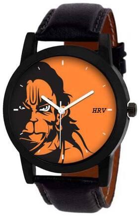 Orange Analog Watch