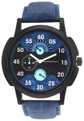 HRV Leather Men Blue C-155 Watch - For Men