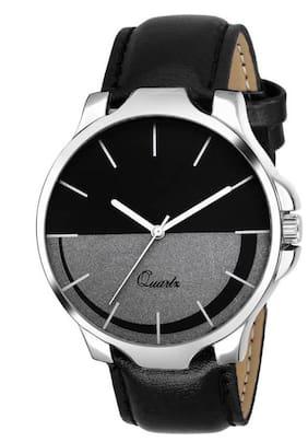 HRV New Designer Moon Series Black Leather Strap Men Watch - For Boys