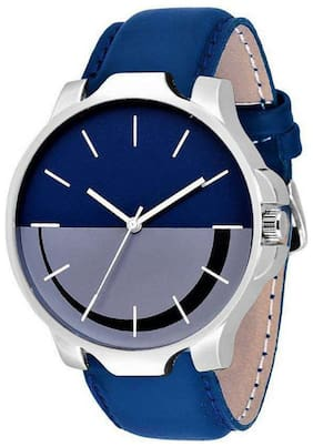 HRV New Stylish Leather Strap Color Blue- Watch - For Boys Watch - For Boys