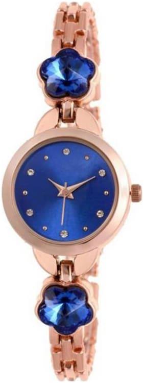 HRV RG Blue Dial Attractive New Pattern Girls Stylish Designer Watch