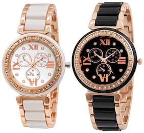HRV Rose Gold Copper Best  Rakhi Gifts Watch - For Women