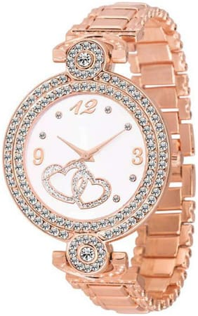 HRV Rose Gold Fashion Italian Design Women Analog watch for Girls and Ladies Watch - For Women