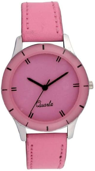 b71e045c6fc Buy HRV Royal Baby-Pink AD083 Watch - For Girls Online at Low Prices ...