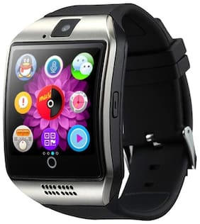 i-Birds Q18 Smartwatch Fitness Wrist Phone Watch Touch Screen Waterproof Fitness Tracker Camara Support SIM & TF Card Compatible iOS & Android (Black)