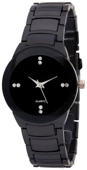 I Divas Women Black Analog Watch Girls & Women Watch